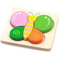 VIGA 50170 Układanka puzzle drewniane: Motylek