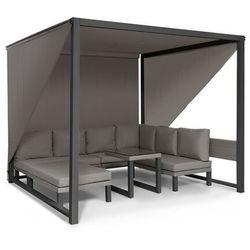 Blumfeldt Havanna, pawilon/zestaw wypoczynkowy, 270 x 230 x 270 cm, cztery 2-osobowe kanapy, szary (4060656226823)