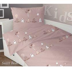 Pościel satynowa dla dzieci Greno Sweet Bear 100x140 Beż