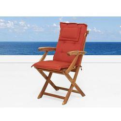 Komfortowa ceglasta poducha do krzesła JAVA z kategorii Pozostałe meble ogrodowe