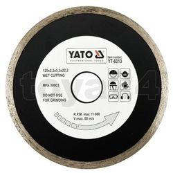 Tarcza diamentowa, segment ciągły, 125 mm / yt-6013 /  - zyskaj rabat 30 zł marki Yato