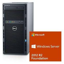 Serwer Dell T130 Xeon E3-1220v5 3.0GHz / RAM 8GB DDR4 / HDD 2x1000GB w Raid1 / 3Y NBD / Windows Server 2012R2