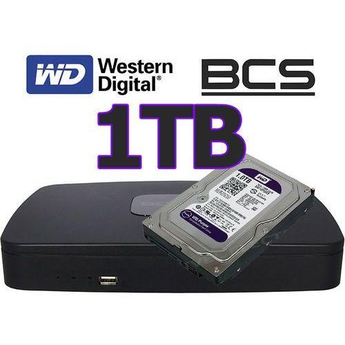 Rejestrator sieciowy IP BCS-NVR0801E + dysk 1TB, kup u jednego z partnerów
