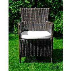 Krzesło ogrodowe Kontur z technorattanu ciemny brąz, BG-0124