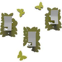Wieszaki ścienne dekoracyjne Butterflies CalleaDesign oliwkowo-zielone