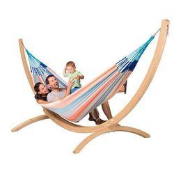La siesta Zestaw hamakowy: hamak rodzinny domingo ze stojakiem barco, piggy doh18bas201