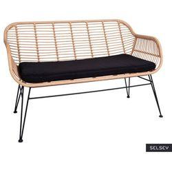 SELSEY Sofa ogrodowa Hesso z technorattanu brązowa (5903025640983)