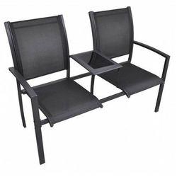 Elior Metalowa ławka ogrodowa lemi - czarna