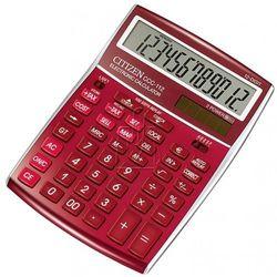 kalkulator Citizen CCC-112RD burgundowy - gwarancja bezpiecznych zakupów - autoryzowany dystrybutor Citizen (4562195132868)