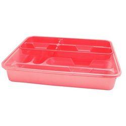 Wkład do szuflad dwupoziomowy 38 x 30 cm różowo-czerwony - Zielony
