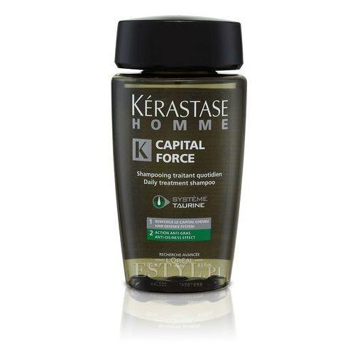 Homme Capital Force Anti Gras - Kąpiel do włosów przetłuszczających się dla mężczyzn 250ml, produkt marki Kerastase