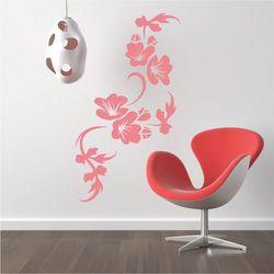 Szablon na ścianę kwiaty liście 2118