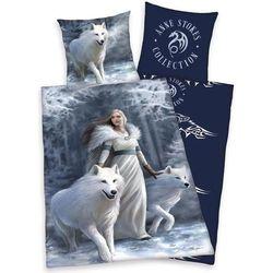 pościel bawełniana anne stokes white wolves, 140 x 200 cm, 70 x 90 cm marki Herding