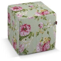 Dekoria Pufa kostka twarda, róże na miętowym tle, 40x40x40 cm, Flowers