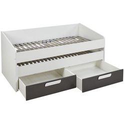 Łóżko wysuwane anselme – 2 szuflady – 90 × 190 cm – kolor czarno-biały marki Vente-unique