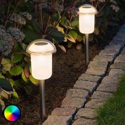 Zdejmowana lampa solarna led assisi, zmienne barwy marki Konstmide