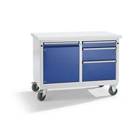 Kompaktowy stół warsztatowy, blat uniwersalny, szer. x głęb. 1140x650 mm, 1 szaf marki Anke werkbänke - a