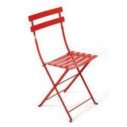 Składane krzesło ogrodowe do restauracji Bistro Fermob czerwone