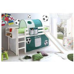 Ticaa kindermöbel Ticaa łóżko ze zjeżdżalnią goal sosna biała/zielony-biały