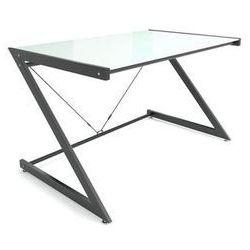 Unique Biurko dd z-line computerdesk czarny/białe szkło