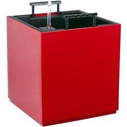 Doniczka BIOOGRÓD 74063304 Muna z systemem nawadniającym Czerwony (29 x 29 x 33 cm)