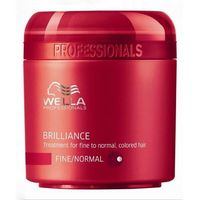 Wella  brilliance maska do cienkich włosów farbowanych (fine) - 150 ml (4015600115609)