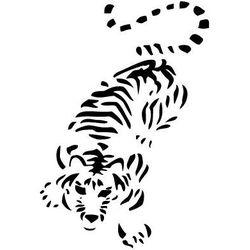 Szabloneria Szablon malarski z tworzywa, wielorazowy, wzór fauna 14 - tygrys
