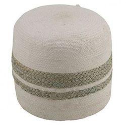 Naturalna pufa Saliem - biała, kolor biały