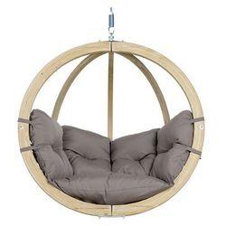 Fotel hamakowy drewniany, Szary Globo chair weatherproof