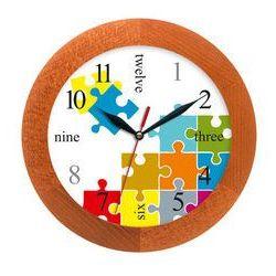 Zegar drewniany solid puzzle, ATW300PE