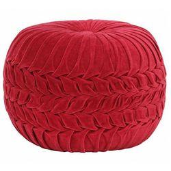 Elior Czerwona welurowa pufa tapicerowana - sativ