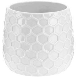 Donica ceramiczna, osłona na donicę - 15 cm, 8719202117509-biały