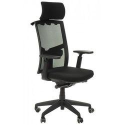 Krzesło biurowe obrotowe z wysuwem siedziska kb-8922a, fotel biurowy marki Stema - kb
