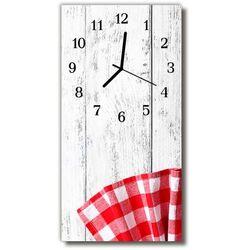 Zegar Szklany Pionowy Sztuka Drewno kuchnia czerwony, kolor czerwony