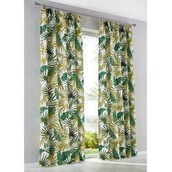 Zasłona w palmy (1 szt.) zielono-biel wełny marki Bonprix