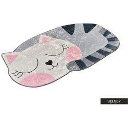 dywan do pokoju dziecięcego dinkley kot 100x160 cm marki Selsey