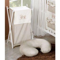 MAMO-TATO Kosz na bieliznę Wesołe zajączki w brązie, towar z kategorii: Kosze na pranie