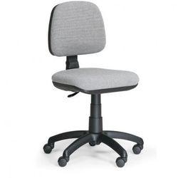 Biurowe krzesło MILANO bez podłokietników - szare
