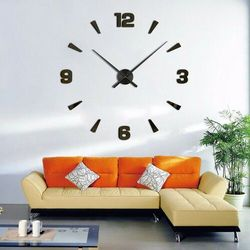 WIELKI zegar na ścianę czarny