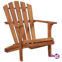 vidaXL Krzesło ogrodowe Adirondack z litego drewna akacjowego (8718475607472)