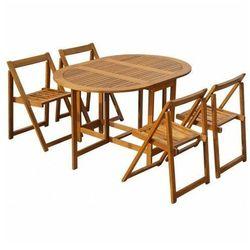 Zestaw drewnianych mebli ogrodowych orik - brązowy marki Producent: elior