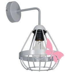 Milagro Kago MLP4931 kinkiet lampa dziecięca 1x60W E27 szary mat / różowy, KINMLP4931