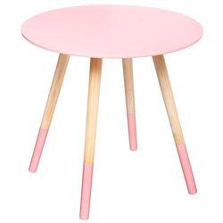 Drewniany stolik kawowy MILEO stolik okazjonalny - kolor szary, Ø 48 cm (3560238914663)