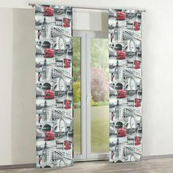 zasłony panelowe 2 szt., szare motywy londynu, 60 × 260 cm, freestyle do -30% marki Dekoria