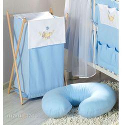 MAMO-TATO Kosz na bieliznę Miś w hamaku w błękicie, towar z kategorii: Kosze na pranie