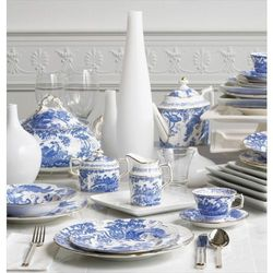 Royal Crown Derby Blue Aves Cukiernica Bez Pokrywy, 90AVEBLU00133