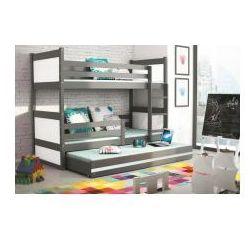 Łóżko piętrowe 3-osobowe Rico grafit 90x200, 2289