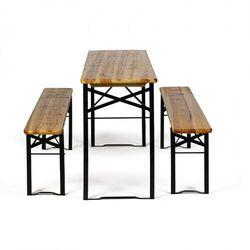 B2b partner Zestaw ogrodowy bez oparcia - 2x ławki, 1x stół bez oparcia - 2x ławki, 1x stół