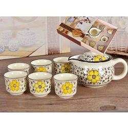 Zestaw do herbaty czajnik + 4 czareki
