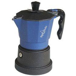 Kawiarka  top 3 filiżanki - czarno niebieska marki Top moka